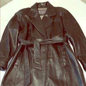 Vintage Wilsons soft leather trench Medium